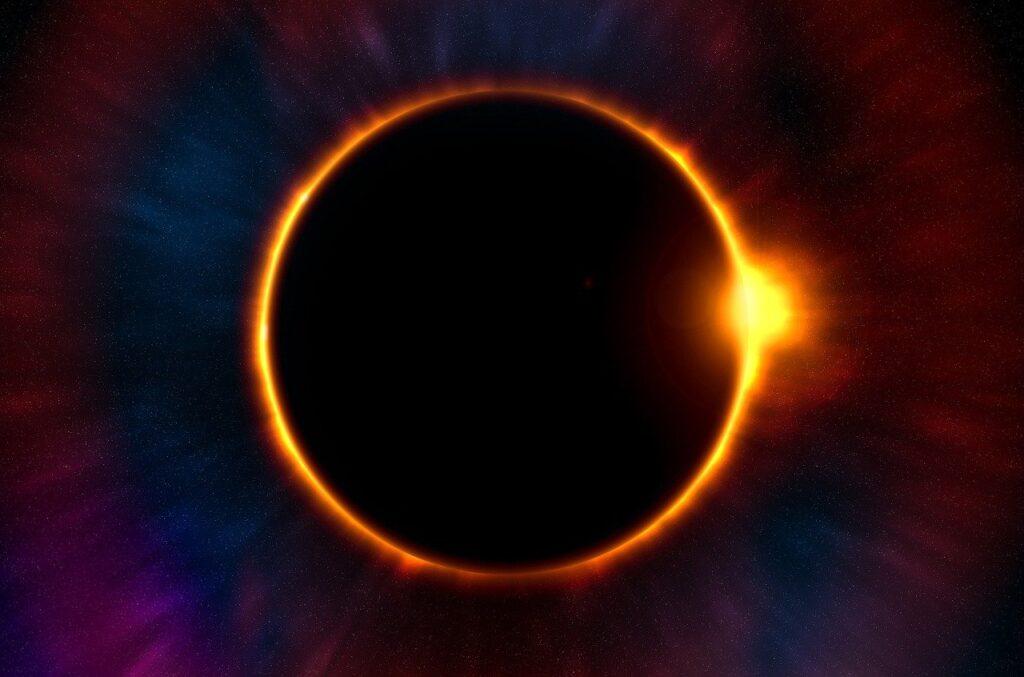 eclipse, sun, space